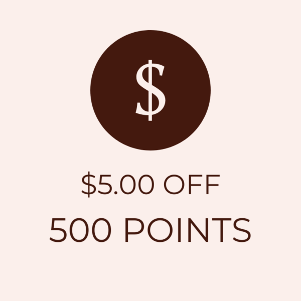 $5 OFF 500 Points Icon