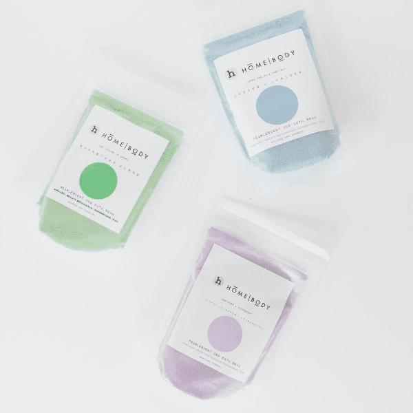 CBD Bath- Homebody Mini Soak Bundle- Under the pale moon sky-Amethyst + Alchemist- The future is Green