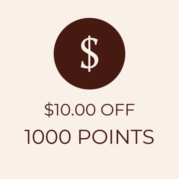 $10 OFF 1000 Points Icon