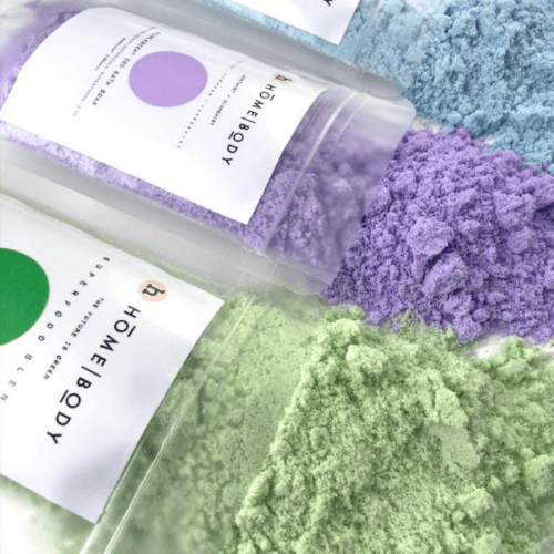 CBD Bath- Homebody Mini Soak Bundle- Under the pale moon sky-Amethyst + Alchemist- The future is Green