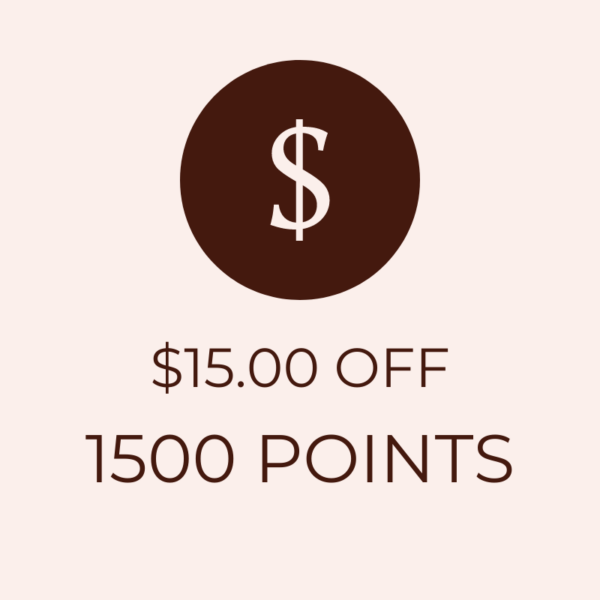 $15 OFF 1500 Points Icon