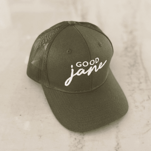Good Jane Apparel- Forest green Good Jane Hat