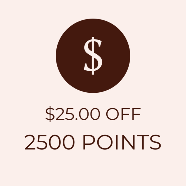 $25 OFF 2500 Points Icon